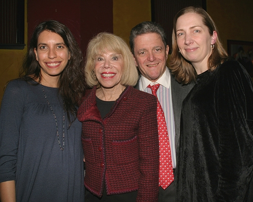 Vineyard Associate Artistic Director Sarah Stern, American Theatre Wing Chairman Sondra Gilman and her husband Celso Gonzalez-Falla, and Jennifer Garvey-Blackwell
