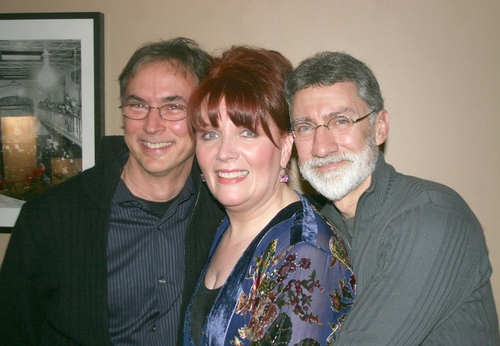 Rob Fisher, Maureen McGovern and David Garrison at Maureen McGovern at Metropolitan Room