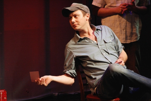 Jimmi Simpson sizes-up the competition in Celebrity Dating Game Photo