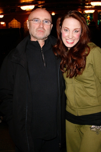 Phil Collins and Sierra Boggess Photo