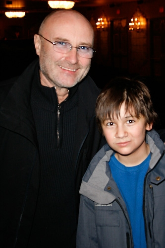 Phil Collins and Brian D'Addario at Phil Collins Visits 'The Little Mermaid'