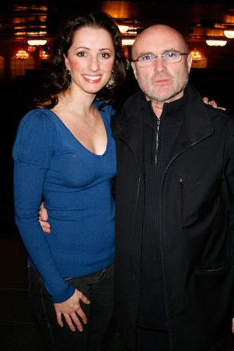 Phil Collins and Meredith Inglesby at Phil Collins Visits 'The Little Mermaid'