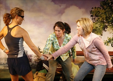 l-r: Caralyn Kozlowski (as Alison), Deborah Sonnenberg (as Lynn) and Nancy Ringham (as Nancy)