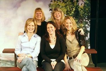 l-r: Nancy Ringham (actress/producer), Judith Ivey (director), Deborah Sonnenberg (actress/producer), Kathleen Clark (playwright) and Carolyn Kozlowski (actress)