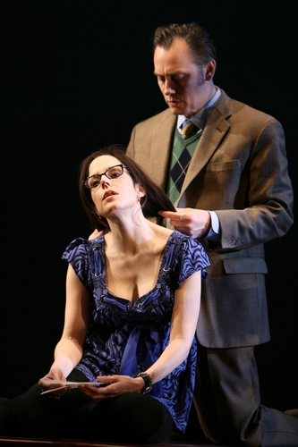 Mary-Louise Parker and David Aaron Baker (Dwight)