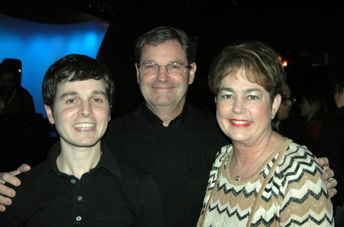 Sean McDaniel and his parents...Robert and Andrea