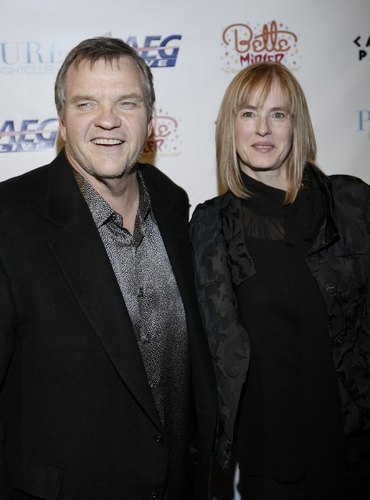Meatloaf and wife Deborah Gillespie at Bette Midler's 'The Showgirl Must Go On' Opening Night