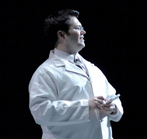 Dan Gerdes in Michael Nyman's one-act opera The Man Who Mistook His Wife for a Hat