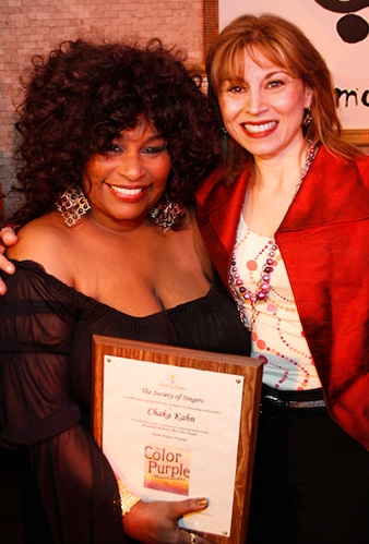 Chaka Khan and Valerie Smaldone