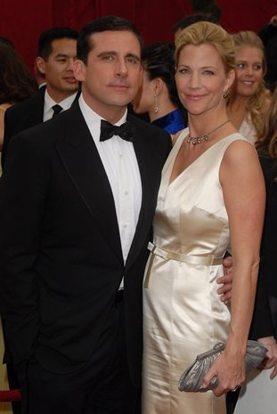 Steve Carrell and Nancy Walls at 80th Annual Academy Awards Red Carpet