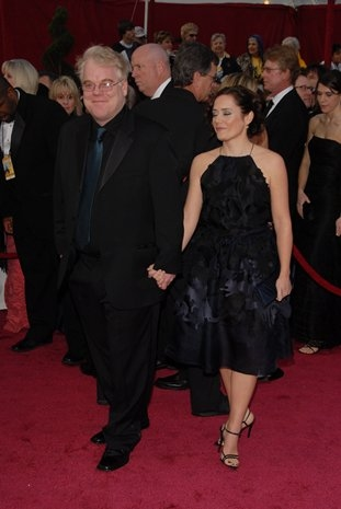Philip Seymour Hoffman and Mimi O'Donnell at 80th Annual Academy Awards Red Carpet
