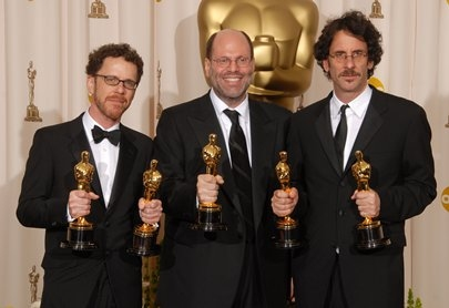 Ethan Coen, Scott Rudin and Joel Coen at 80th Annual Academy Award Winners!