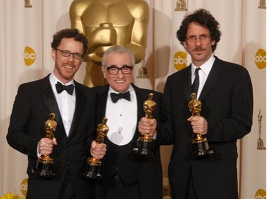 Ethan Coen, Martin Scorsese, and Joel Coen at 80th Annual Academy Award Winners!