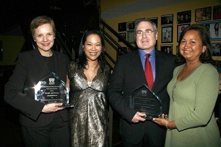 Tara Rubin, Christine Toy Johnson and Todd Haimes