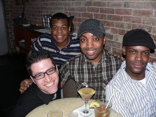 Ben Rimalower with The Dreams - Rob Tucker, Larry Hamilton and Jamaal Wilson at Natalie Joy Johnson at Therapy