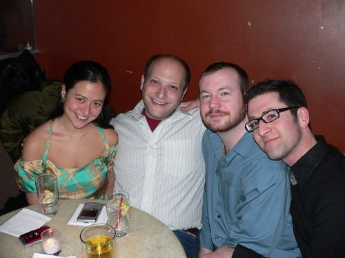 Marissa Kamin, Isaac Robert Hurwitz, Shane Marshall Brown and Ben Rimalower at Natalie Joy Johnson at Therapy