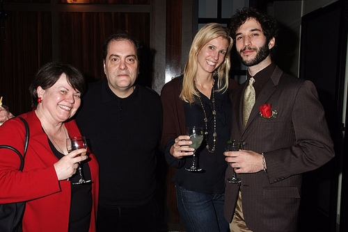 Pat McLaughlin, Eduardo Machado (Director), Sandi Farkas and Michael Domitrovich (playwright) at 'Artfxxxkers' Opening Night Party