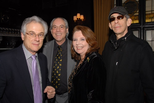Jeffrey Lyons, Robert Klein, Randie Levine-Miller and Richard Belzer