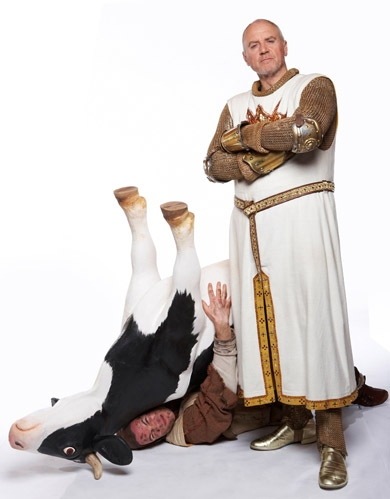 Alan Dale (King Arthur) and Andrew Spillett (Patsy)