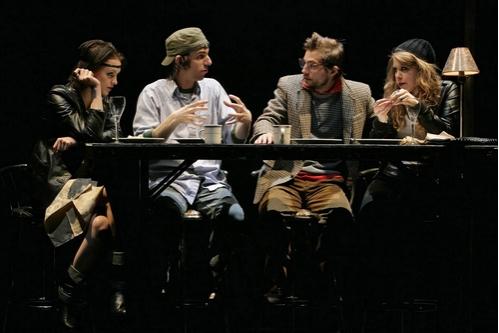 l-r: Tanya Fischer, Lucas Papaelias, Logan Marshall Green, and Lisa Joyce