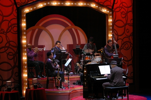 The Band: Carlton Astor Holes III, Reggie Pittman, Jay Branford, James Burton, Paul Beaudry and Willard Dyson