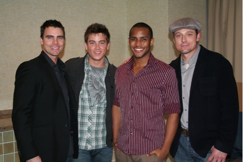Colin Egglesfield (AMC), Brandon Buddy (OLTL), Sterling Sulieman (AMC) and David Chisum (OLTL)