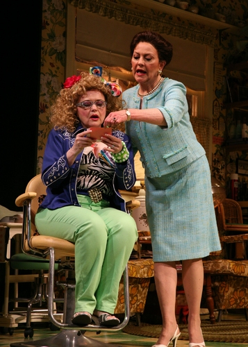 From Left to Right, Charlotte Booker (Truvy Jones) and Kelly Bishop (Clairee Belcher) Photo