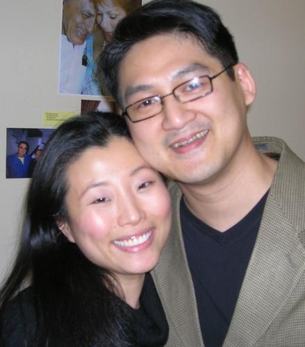 Deborah S. Craig (Spelling Bee) and songwriter Tim Huang Photo
