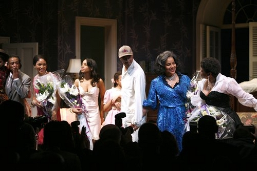 Giancarlo Esposito, Lisa Arrindell Anderson, Anika Noni Rose, Terrence Howard, Phylicia Rashad and Debbie Allen at 'Cat on a Hot Tin Roof' Opening Night Curtain Call & After Party