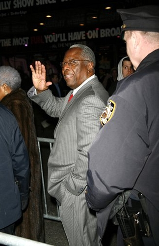 Hank Aaron at 'Cat on a Hot Tin Roof' Opening Night Arrivals