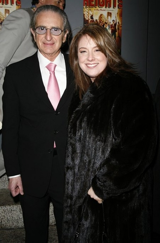 Sander Jacobs with Amy Jacobs (Producer) at 'In The Heights' Opening Night Arrivals