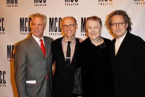 Robert LuPone,William Cantler, Lynn Redgrave, and Bernard Telsey Photo