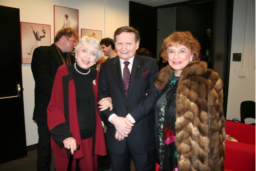 Celeste Holm, Byron Janis and Marian Javits