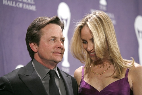 Michael J. Fox and Tracy Pollan at 2008 Rock & Roll Hall of Fame