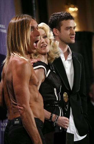 Iggy Pop, Madonna and Justin Timberlake Photo