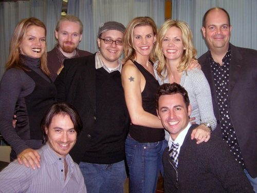 Amy Spanger, Matt Gallagher, Randy Blair, Jenn Colella, Jenifer Foote, Brad Oscar, Damien Bassman and Max von Essen