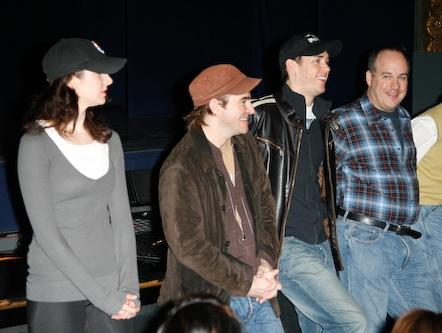Sarrah Strimel, Roger Bart, Barrett Martin, and Kevin Ligon  Photo