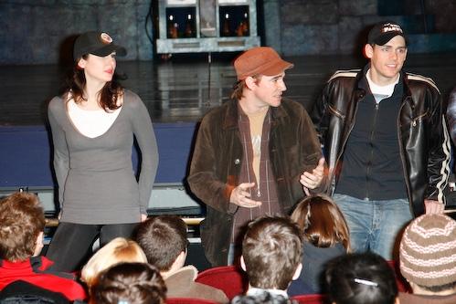 Sarrah Strimel, Roger Bart, and Barrett Martin  Photo