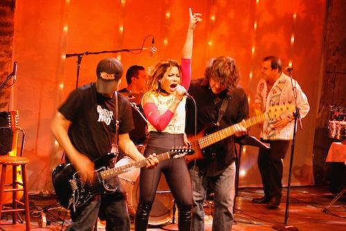 Dave Matos, Daphne Rubin-Vega, and Steve Morris at Daphne Rubin Vega @ The Zipper Factory