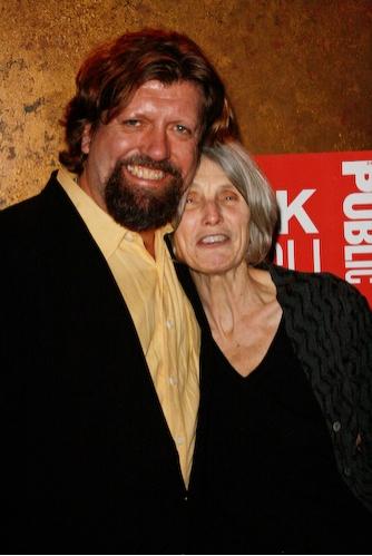 Caryl Churchill and Oskar Eustis at 'Drunk Enough to Say I Love You?' Opening