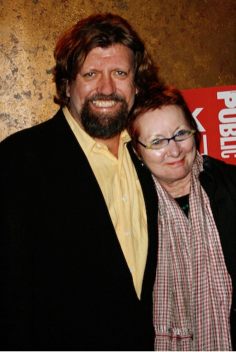Publc Theater's Artistic Director Oskar Eustis and JoAnne Akalaitis