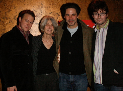 Samuel West, Caryl Churchill, Scott Cohen, and James Macdonald at 'Drunk Enough to Say I Love You?' Opening
