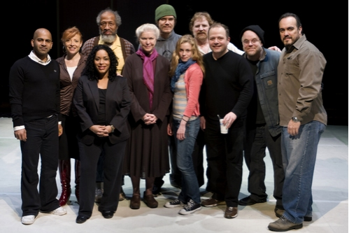Ajay Naidu, Elizabeth Canavan, Liza Colon-Zayas, Arthur French, Ellen Burstyn, Michael Shannon, Gillian Jacobs, Howie Seago, Sidney Williams, director Philip Seymour Hoffman and David Zayas