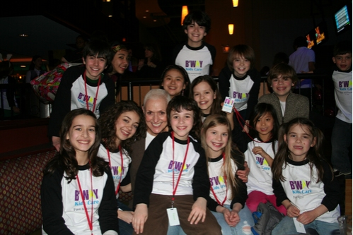 Kelly Gonda and the Broadway Kids Care members Photo