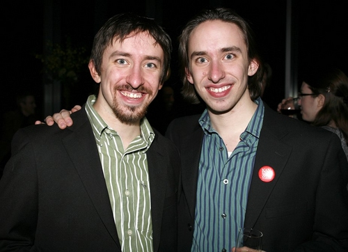 James Gardiner and Matthew Gardiner at Kiss Of The Spider Woman Opening Night