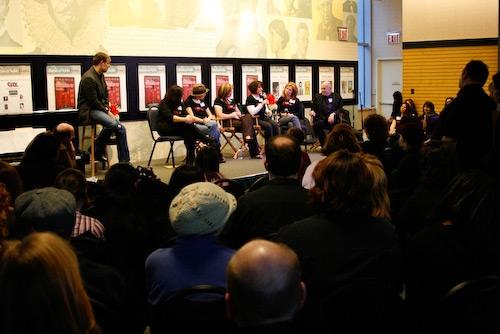 John Bolton, Julie Stevens, Kristen Vigard, Martha Byrne, Rosanne Sorrentino, Robyn Finn, and Charles Strouse