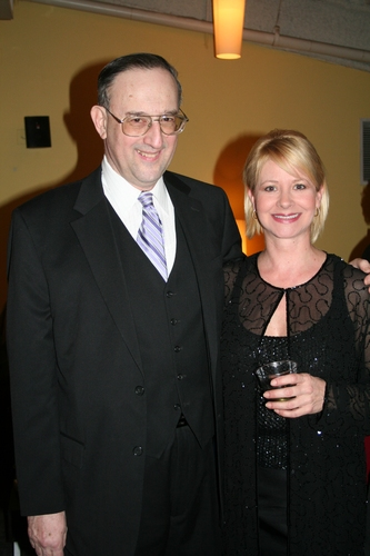Victor L. Cahn (Playwright) and Dori Thompson (Chairman of the Board) Photo