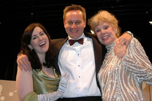 Stephanie D'Abruzzo, Michael Riedel and Betsy Palmer