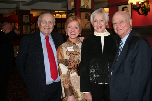 Phil Smith (President of the Shubert Organization), Mary Lou Westerfield (Actors Equity) Judith Anderson (CTFD Vice President) and Gerald Schoenfeld (Chairman of the Board Shubert Organization)