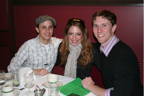 Gypsy cast members; John Scacchetti, Nancy Renee Braun and Matt Gibson at CTFD Between Show Get Together